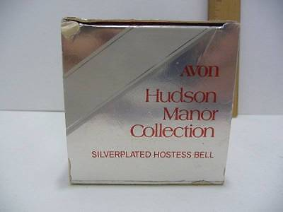 Vintage Avon Hudson Manor Collection Silverplated Hostess Bell w/Box