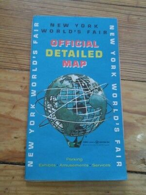 1964-1965 New York Worlds Fair Official Detailed Map Esso Touring Service