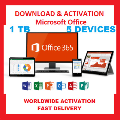Microsoft Office activation key Professional Plus 365 For Mac & Windows For 5PC