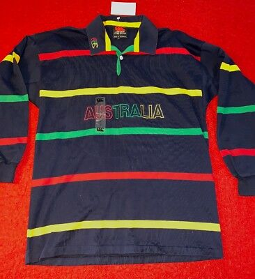 b7641da6590 VINTAGE RUGBY SHIRT Canterbury Of New Zealand MULTI COLOR Stripes AUSTRALIA  NEW