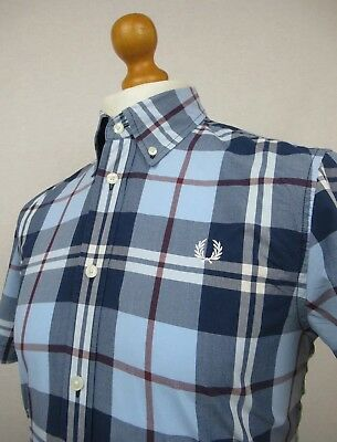 """7ce22376f FRED PERRY  BOLD Check Tipped Trim Polo Shirt ( M 38"""") Slim Fit ..."""