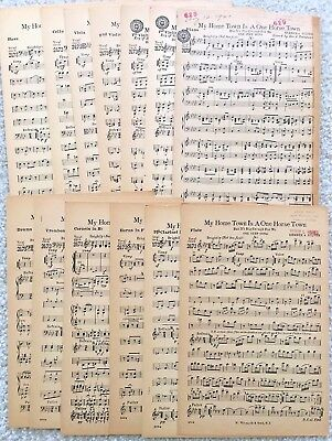 My Home Town is a One Horse Town - One Step, Small Orchestra Sheet Music 1920