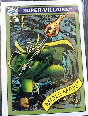 1990 Impel Marvel Universe Series I Card #68 Mole Man