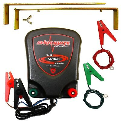 Electric fence Energiser ShockRite Fencer 12v SRB60 0.6J + Earth Stake & Cables