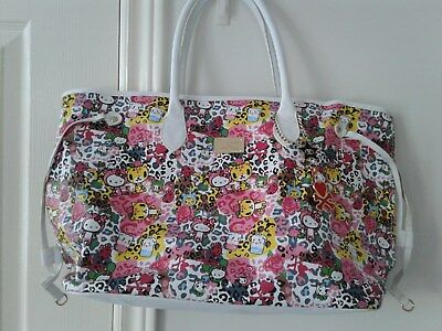 Hello Kitty Tokidoki Tote Shoulder Bag with Charms XL Excellent Condition