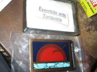 Tech Either Guild Brass Cast Eventide With Turquoise Belt Buckle New In Pkg