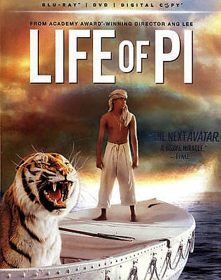 Life of Pi (Blu-ray/DVD, 2013, 2-Disc Set, WITH Digital Copy UltraViolet)-NEW