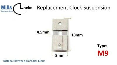 Steel Clock Pendulum Suspension Spring. (18mm x 4.5mm x 8mm) (Type M9)