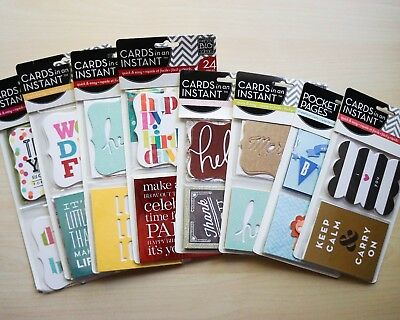 HUGE Lot of Me and My Big Ideas Instant Card Kits or Ephemera, mixed media