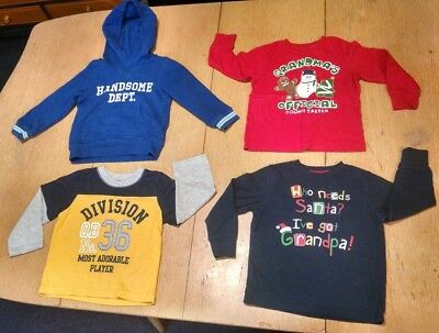 Lot Of 4 Boys Long Sleeve Shirts. Hoodie.  Toddler Size 3T.