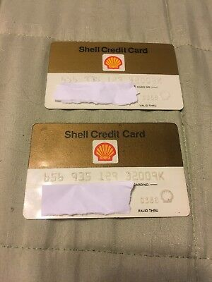 Lit Of 2 Vintage Expired Shell Credit Cards