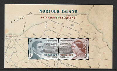 Norfolk Island 2019 : Pitcairn Settlement, Minisheet. Mint Never Hinged