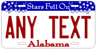 Personalized Custom Alabama State License Plate Any Text Name Novelty Car Tag