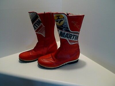 STYLMARTIN STYL MARTIN MOTORCYCLE RACING BOOTS - RED/WHITE - Eddie Lawson