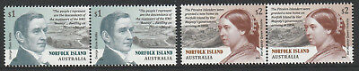 Norfolk Island 2019 : Pitcairn Settlement, Joined pairs. Mint never hinged