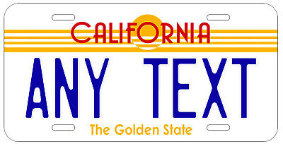 Personalized Custom California State License Plate Golden Name Novelty Car Tag