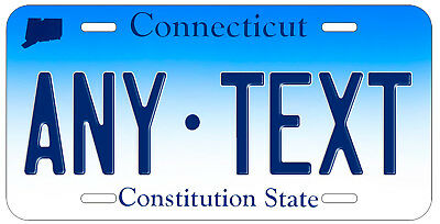 Personalized Custom Connecticut State License Plate Name Novelty Auto Car Tag