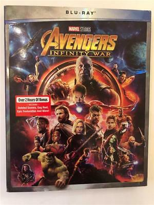 NEW Avengers Infinity War Blu Ray With Slipcover 2018