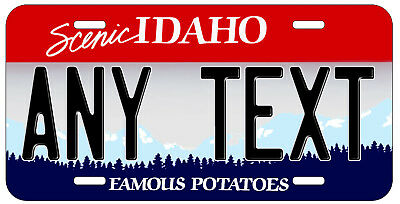 Personalized Custom Idaho State License Plate Any Name Novelty Auto Car Tag
