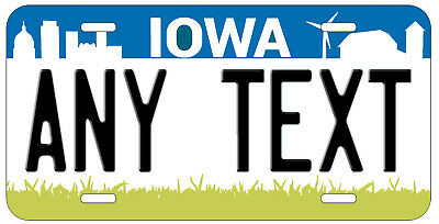 Personalized Custom Iowa State License Plate Any Name Novelty Auto Car Tag