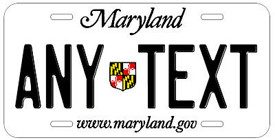 Personalized Custom Maryland State License Plate Any Name Novelty Auto Car Tag
