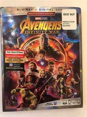 NEW Avengers Infinity War Blu Ray & Digital Code W/ Slipcover 2018 Multi Screen