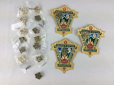 Lot Of 1995 Boy Scouts Of America 85th Anniversary Patches And Pins