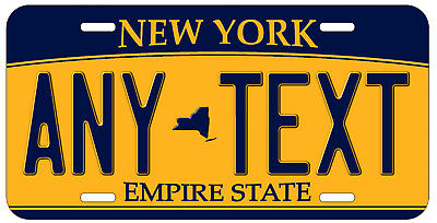 Personalized Custom New York State License Plate Any Name Novelty Auto Car Tag