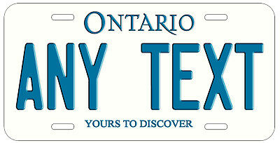 Personalized Custom Ontario Provincial License Plate Any Name Novelty Car Tag