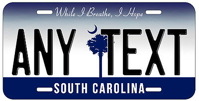 Personalized Custom South Carolina State License Plate Any Name Novelty Car Tag