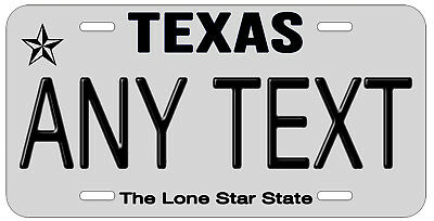 Personalized Custom Texas State License Plate Any Name Novelty Auto Car Tag