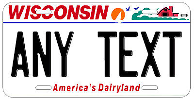 Personalized Custom Wisconsin State License Plate Any Name Novelty Auto Car Tag