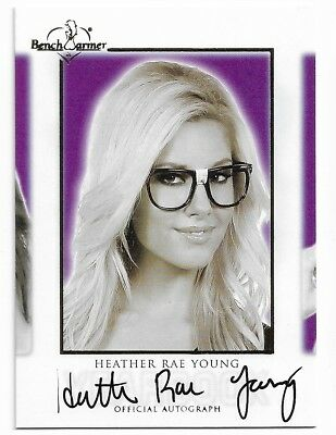 2018 Benchwarmer Hot For Teacher 4 Hft Heather Rae Young Yearbook Autograph Auto