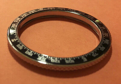 COMPASS INSERT KNURLED EDGE Steel Bezel for Vostok Amphibian Komandirskie Watch