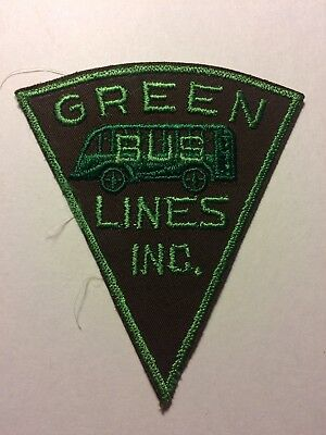 UNUSED Embroidered Green Bus Lines Inc Shirt  Patch