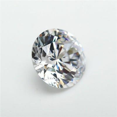 Loose White Moissanite Gemstone 3 mm to 10 mm EF Color Quality VVS Clean Round