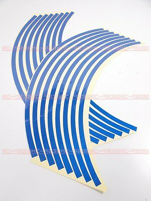 """Rims Sticker wheel stripe tapes 14"""" Blue for all motorcycle motor 14 inches blue"""