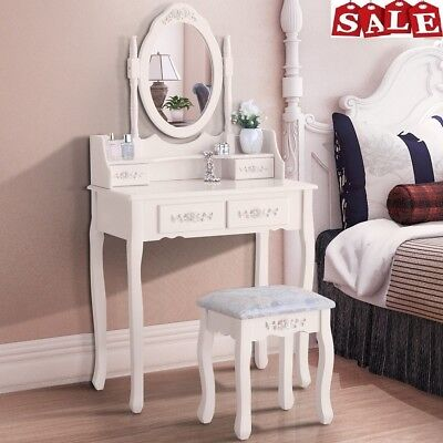 Surprising Dressing Table Oval Mirror Makeup Vanity Desk 4 Drawer Stool Gmtry Best Dining Table And Chair Ideas Images Gmtryco