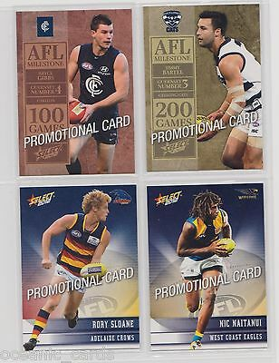 Afl Champions Trading Cards 2012 Promotional Card Select Set Of 4 Promo Cards