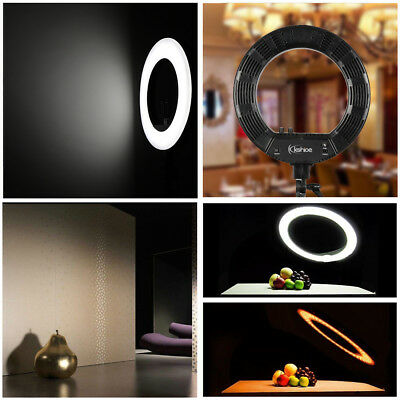8 Inch 24W Dimmable LED Ring Live Video Selfie Fill Light + Makeup Mirror