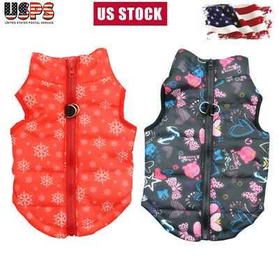 Waterproof Pet Small/Large Dog Cat Warm Padded Coat Puppy Clothes Vest Jacket US