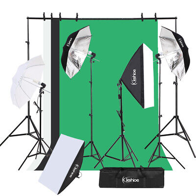 Photography Background Studio Backdrop Softbox Umbrella Continuous Lighting Kit