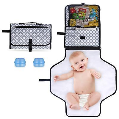 Portable Changing Pad, Diaper Clutch Kit, Travel Foldable Station Mat for Baby