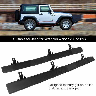 For 07-16 Jk Jeep Wrangler 4Dr Oe Factory Style Side Step Running Board Nerf Bar