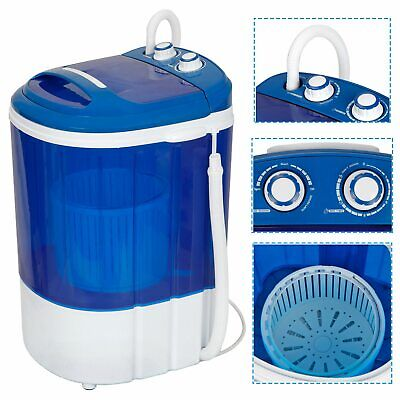 9lbs Portable Compact Washing Machine w/Washer&Spinner,Gravity Drain Pump Hose