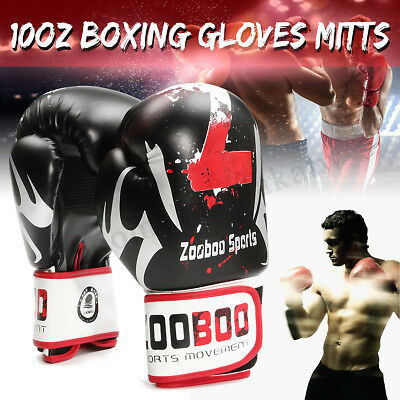 MECO Adult PU Leather Boxing Gloves Mitts Muay Thai Punch Bag Sparring Training