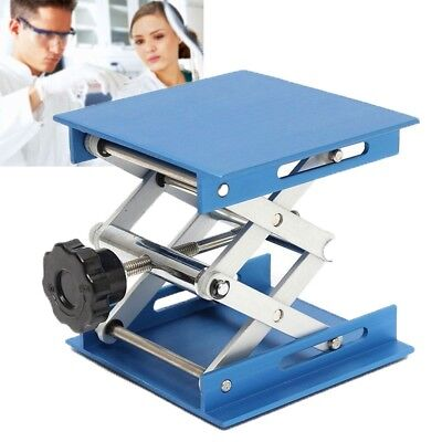 100*100MM Aluminum Lab Stand Rack Table Lifting Platforms Scissor Lab Jack 4x4''
