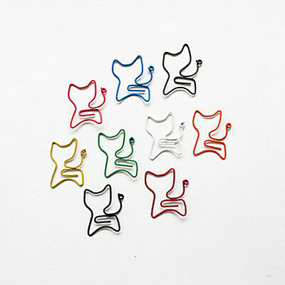 10Pcs Cat Supplies Stationary Colorful Office Wrapped Paper Clips Random Color