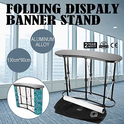 2x2 Display Aluminum Alloy Folding Grid Banner Stand podium Lacquered Sales Bar