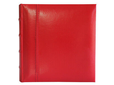 Glorious Leather 50 page Drymount Album Red